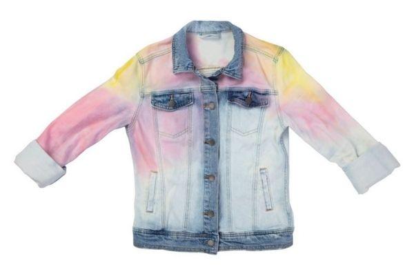 DIY Tie Dye Denim jacket