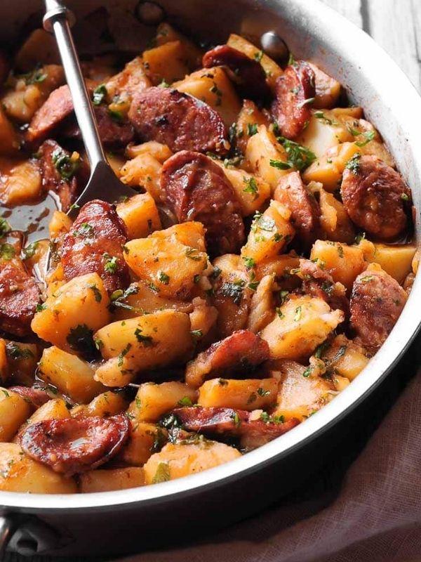 Goulash with Smoked Sausage and Potatoes