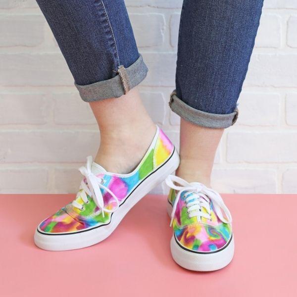 Sharpie Tie Dye Sneakers