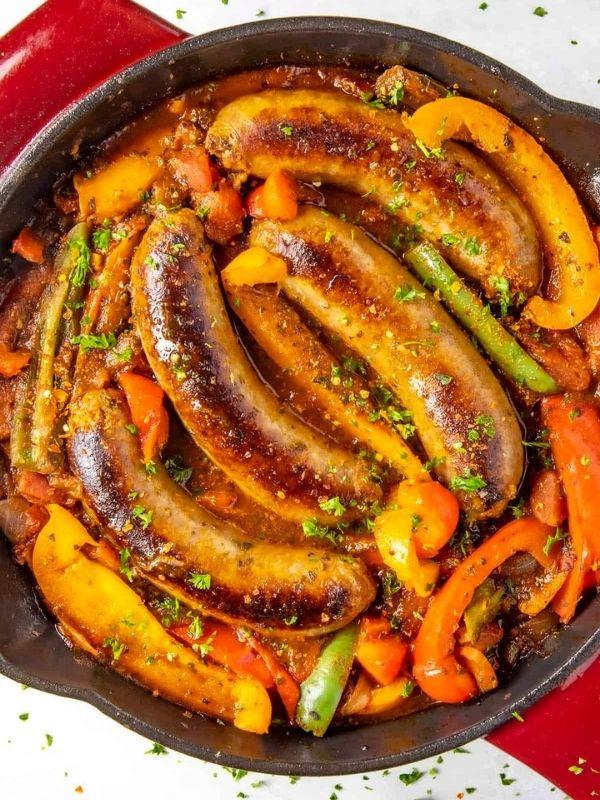 Smoked Sausage and Peppers
