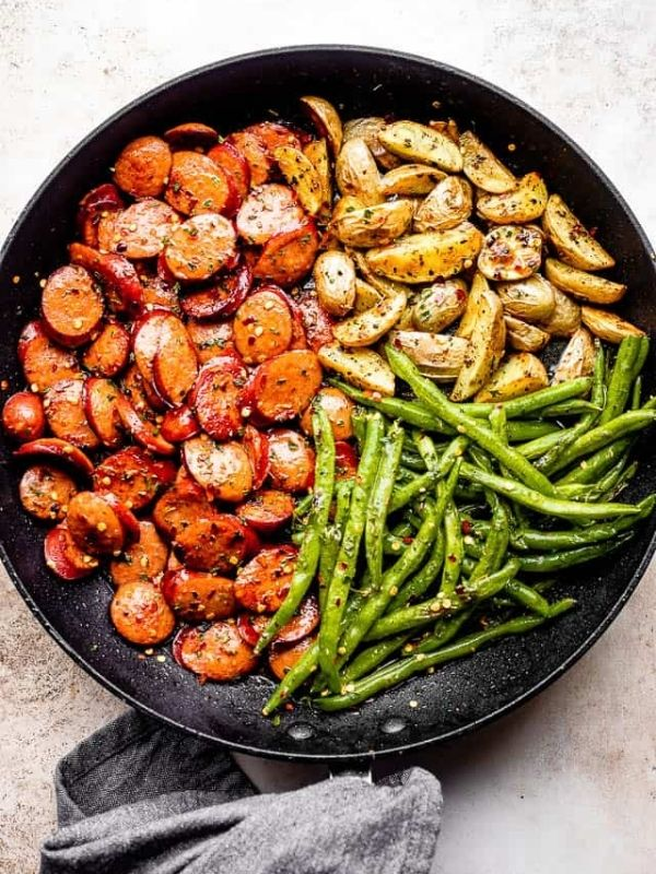 Smoked Sausage with Potato and Green Beans Recipe
