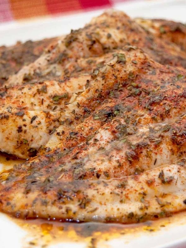 Baked Catfish with Herbs