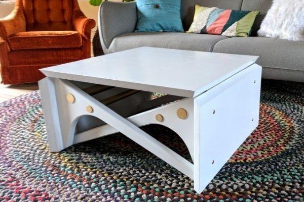 DIY Convertible Coffee Table