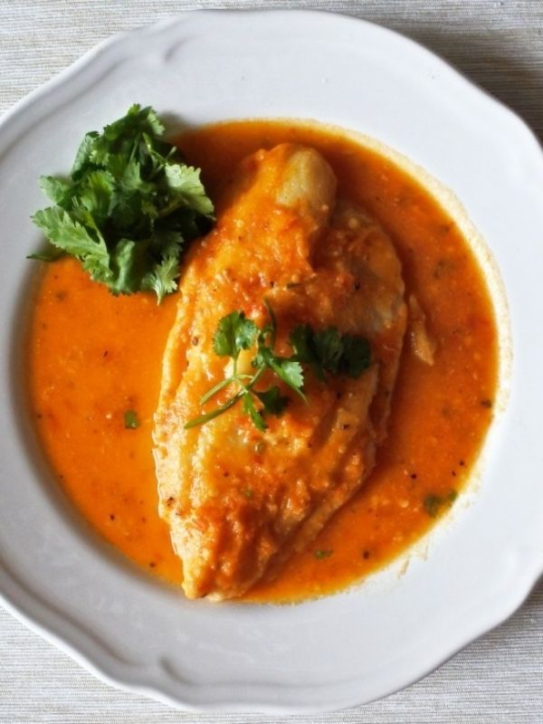 John Dory Poached in Tomato and Chili Broth