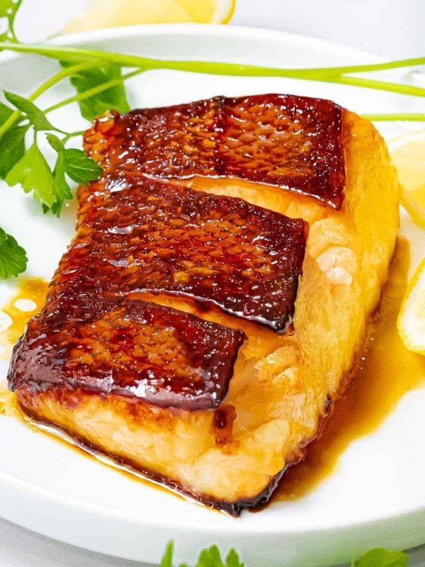 Pan Seared Chilean Sea Bass with Asian Marinade