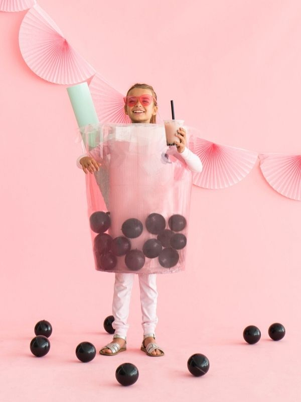 DIY Boba Tea Costume