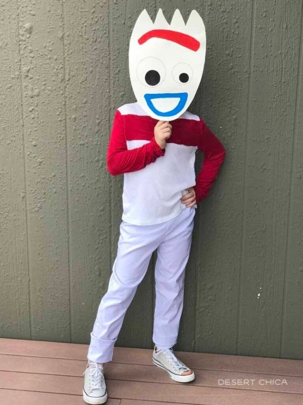 DIY Toy Story Inspired Forky Costume