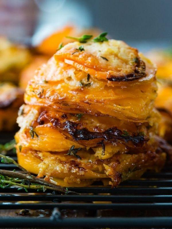 Gruyere Sweet Potato Stacks