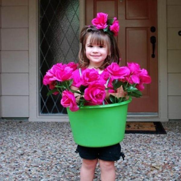 Homemade Flower Pot Girl Costume