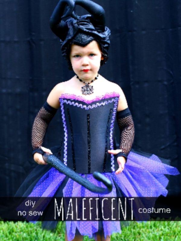 No-Sew Maleficent Costume