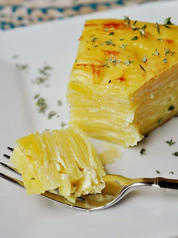 Scalloped Potato Flan with Gruyère and Garlic