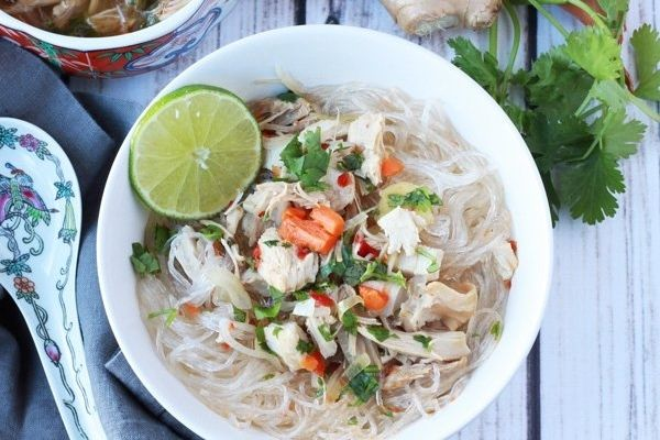 Asian-Inspired Turkey Noodle Soup