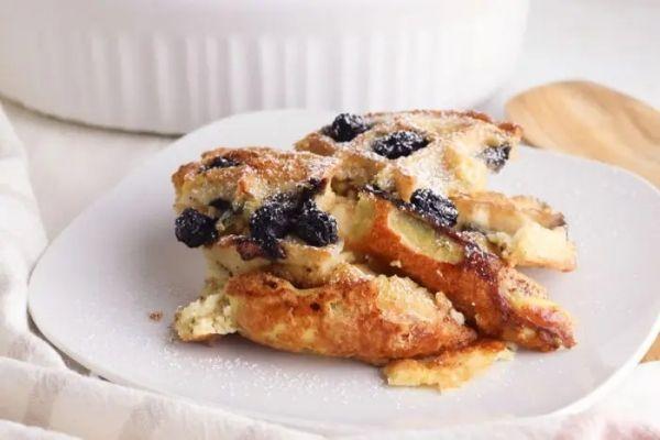 Blueberry Waffle Breakfast Casserole
