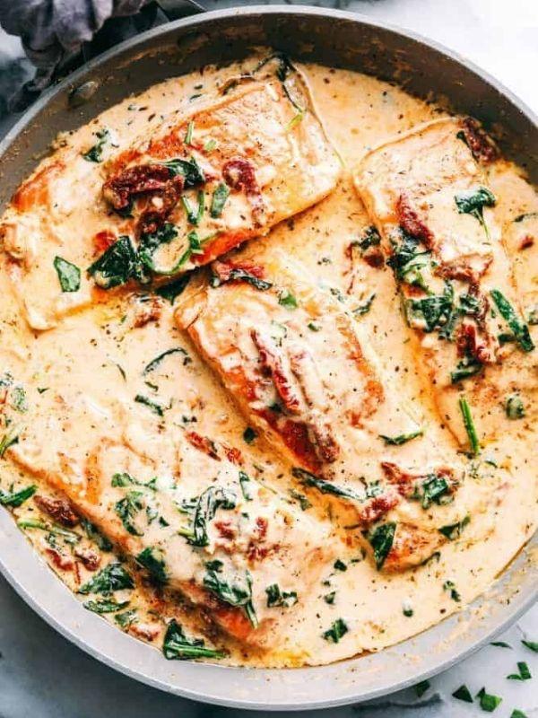 Creamy Tuscan Garlic Salmon