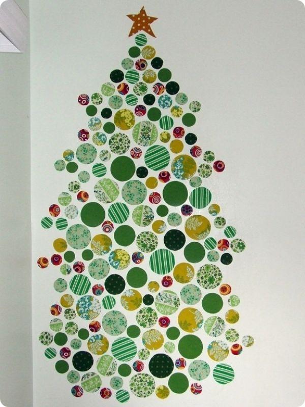 DIY Fabric Wall Christmas Tree
