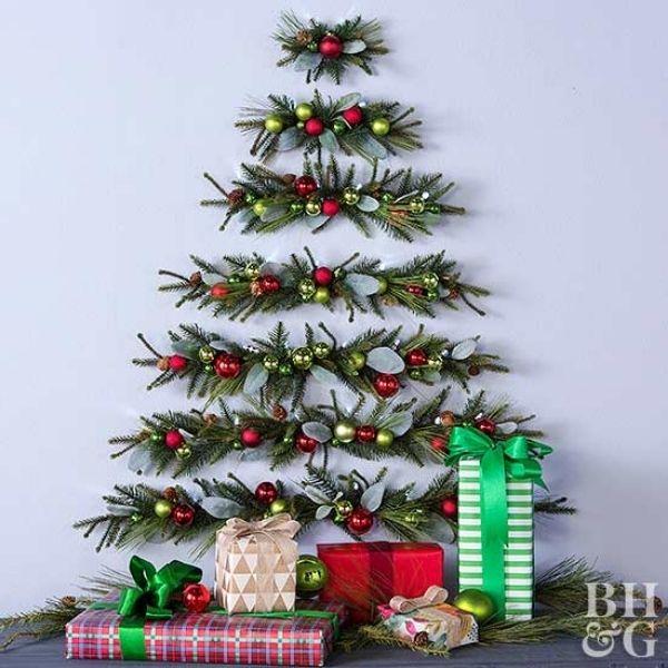 DIY Pine-Garland Christmas Tree