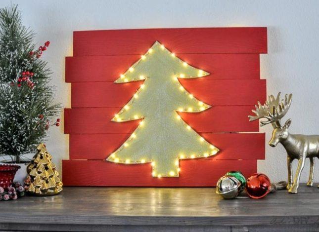 DIY Wall Christmas Tree Ideas