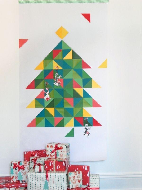 Geometric Paint Chip Christmas Tree