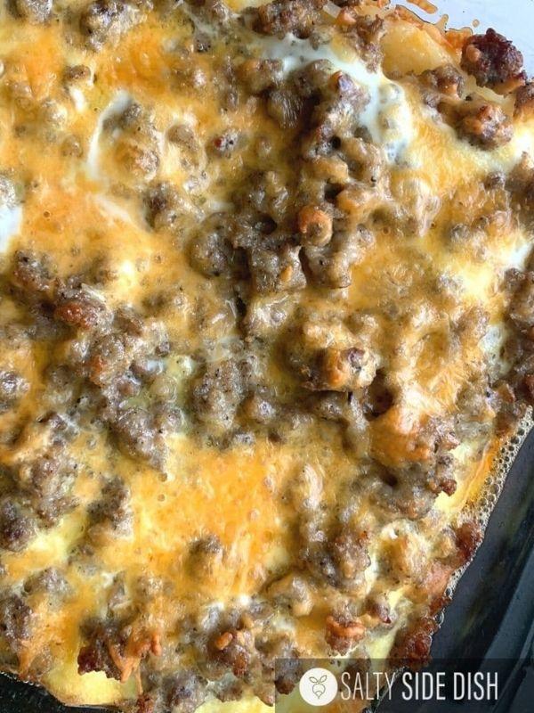 Sausage Hashbrown Breakfast Casserole