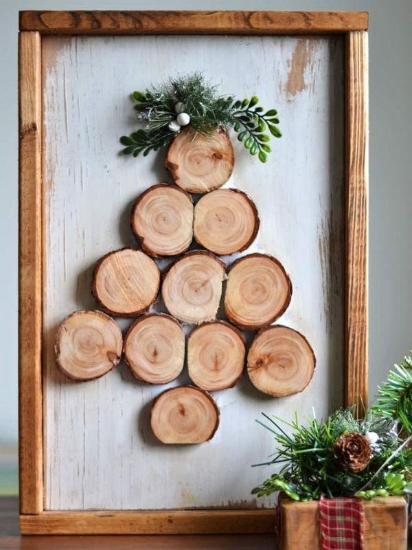 DIY Wood Slice Christmas Tree
